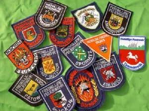 Feuerwehr-Embleme Ärmelabzeichen gestickt