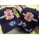 FIRE DEPT SHADOW MALTESE CROSS CAP