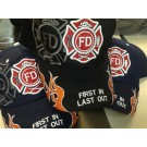 FIRST IN LAST OUT FIREFIGHTER-CAP - Black