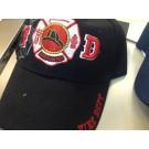 FIREFIGHTER RED MALTESE CROSS FIRE DEPT CAP