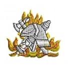 Kapuzensweatshirt mit Feuerwehrwappen Typ10