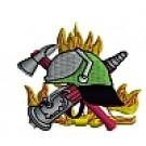Feuerwehr-Kapuzenjacke mit Feuerwehrwappen Typ09